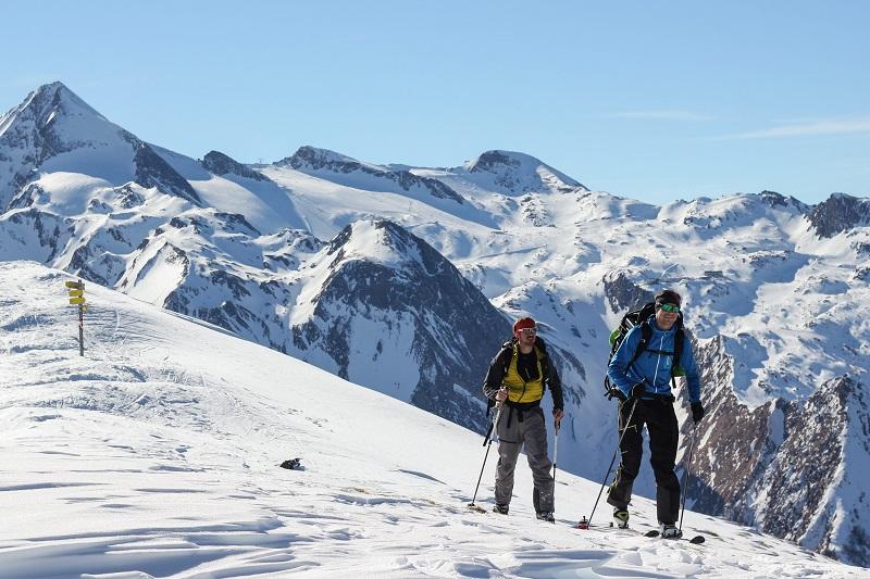 Skitour Tristkogel am Gletscher in Kaprun