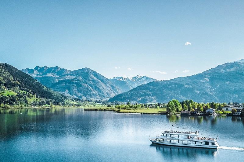 Boat trip at lake zell