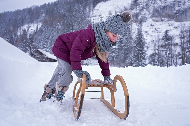 tobogganing in Zell am See